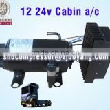 12 24v cabin a/c for truck sleeper cab ev a/c kit electric truck cabin air conditioner tractor cab air conditioner