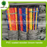 Wholesales PVC coated eucalyptus wooden broom handle /mop sticks with black cap for sweeping tools