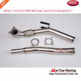 Mertop 3'' VW Golf GTi Jetta Audi A3 Turbo Catless Downpipe Exhaust 2.0T Decat Cat delet