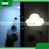 Promotion White Kids Baby Bed Living room Hallway sound sensor voice control USB LED cloud Lamp Night Light