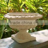 2014 Magnesium/Fiberglass Planter Urns Chinese Factory Flower Planter QL-13170 9kg Hot Sale