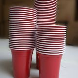 12oz/360ml red disposable plastic wine cup