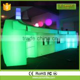 Customized classic led bar counter vintage, modern bar counter topBar Counter VintageAcrylic Led Bar Table Lighting