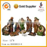 12 Inch Hot Sale 11 Pcs Resin Christmas Nativity Set Wholesale Baby Jesus Mary and Joseph