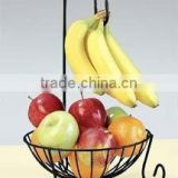 Metal Fruit Basket with Banana Holder