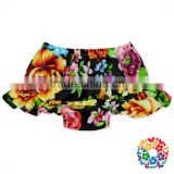 Popular Printing Pattern Design Ruffle Girls Baby Bloomers Solid Color Girls Icing Shorts