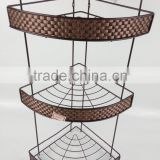 triple layer woven decoration metal bathroom shelf BS2000-3L