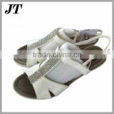 New stock lot womens shoes low price ladies high heel wedges sandals