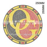 Circle with letters iron on rhinestone transfers