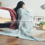 HOT Selling yarn knitted Mermaid Sofa Tail blanket handmade crochet Fish tail blanket Soft and comfortable sleeping bag