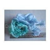 Blue Green Headpieces Wedding Craft Silk Flower Heads For Hat / Fascinator / Bag