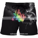 men fast dry claw beach shorts/ blue l na creative plus size beach shorts with pockets / printed sports beach wear