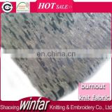 Winfar Textile New Fashion High Quality Snow Printed CVC Polyester Burnout Cotton Fabric