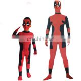 Unisex jumpsuit spandex cosplay deadpool costume