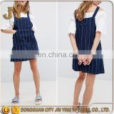 Clothing Factories in China Free Size Dresses A Line Pinafore Classic Adjustable Straps Denim Dress