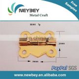 Decorative small hinge for wooden box BI301 in gold color