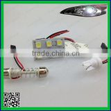 5050 6smd led interior dome light car room led ( led car reading light with ba9s ,T10,festoon connector )