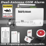 Newest Wireless GSM Anti-theft Home Security Dual Antenna Gsm Alarm System With Russian/English Voice Prompt