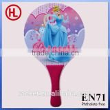 Hot sale custom cheap promotional Wooden Beach Tennis Racket /beach bat /beach paddle set with pvc beach ball wholesale