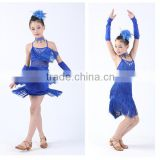 Fashion Children's costumes Latin tassel performance clothing/ gril Ballroom dancing dress
