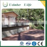 Water resistance wholesales WPC wood plastic composite picket fencing