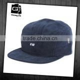Wholesale high quality custom printing logo plastic buckle flat bill cotton 5 panel hat