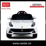 2016 Good quality Licensed car type plastic kids car toy ride on baby car Ferrari