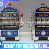 Funny mini key chain slot machine promotional gift toy with light and music