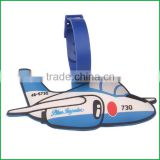 Cute soft pvc airplane luggage tag for tourist gift