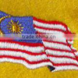 low price high quality wave country flag designs iron on jean embroidery patches