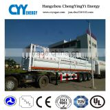 High Quality 2 axle 20ft cng trailer / skeleton chassis cng tube trailer CNG Tube Skid Container Trailer