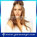 New design high quality chain hair jewelry chain head piece silver jewelry H0007