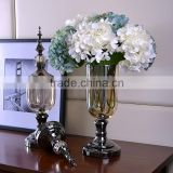 Simple and modern neo-classical European American soft-mounted home accessories living room decoration art glass vase ornaments
