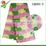 nigerian lace guipure cord lace dress lace fabrics with embroidery design flower CQ065-3