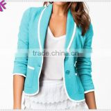 Custom Made High Fashion women blazer with Binding
