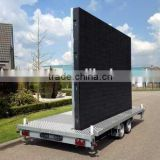 Outdoor Usage and Video Display Function mobile led screen trailer led advertising screen