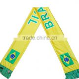Brazil football fan scarf