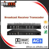 Professional DVB-S2/IP streamer with video transcoding mpeg2 and H.264 encoding