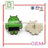 Zinc Alloy Die Casting Android Badge Emblem Laple Pin