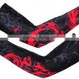 cycling wear arms sleeves - anti-uv sublimation printed wholesale sports cycling elastic arm sleeve compression arm sleeve