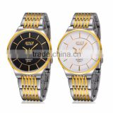 New Slim,Water Resistant,High-end Men's Casual between Gold Slim Quartz watch Business clock and Number HL3304