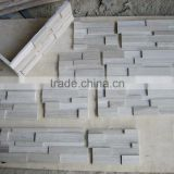 white wood marble stacked ledge stone corner stone