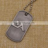 Stainless steel engrave blank dog tag with necklaces
