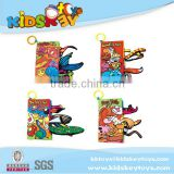 Fashion kids educational toy Children letters cloth book, ABCD cloth book, animal baby cloth book