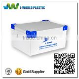 Collapsible white ESD corrugated plastic boxes manufacturer