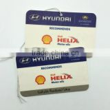 promotional hanging scented car paper air freshener/paper perfume with two sides printing