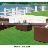 cheap outdoor wicker furniture rattan sofa from UGO factory