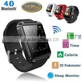 2016 New Bluetooth Smart Watch U8 Plus U Watch for Samsung S4 HTC LG Huawei Android Phone Smartphone Sync Call Remote shutter