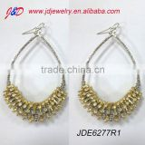2012 DROP EARRINGS WITH THREAD CRYSTAL CLAW CHAIN