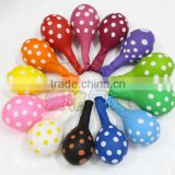 "12"" 2.8g Colorful polka dot printed wave point latex balloons party arrangement balloon"